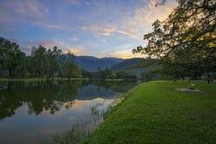 太平湖庭院,太平,马来西亚 图库摄影