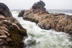 太平洋和北加利福尼亚海岸 库存照片