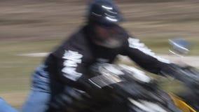 太平洋海岸凭空想象机; 摩托车的人 股票视频