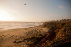 太平洋海岸在加利福尼亚 库存照片