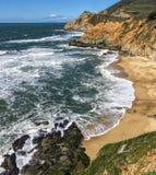 太平洋海岸线,半月湾 免版税库存图片