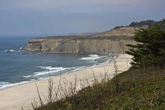 从太平洋海岸高速公路的加利福尼亚海岸线 图库摄影