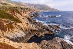 太平洋海岸,大瑟尔,加利福尼亚,美国 免版税库存照片