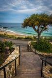 太平洋的楼梯和看法,海斯勒公园的 免版税库存照片