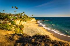 太平洋的看法从峭壁的在海斯勒公园 图库摄影