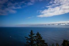 太平洋的美好的高看法从俄勒冈海岸的 免版税库存图片