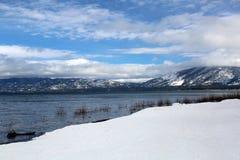 太浩湖在冬天 免版税图库摄影