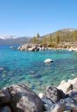 太浩湖海岸线在Carlifornia美国 免版税库存图片