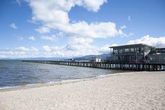 太浩湖海滩码头 库存照片