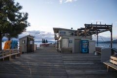 太浩湖海滩码头 库存图片