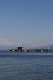 太浩湖的船库 免版税图库摄影