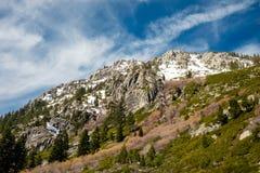 太浩湖,加利福尼亚山坡  图库摄影