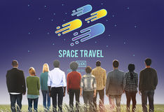 太空旅行天文探险概念 库存图片