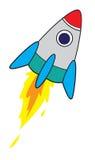 太空火箭动画片 库存例证