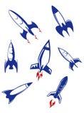 太空火箭和军用导弹 免版税图库摄影