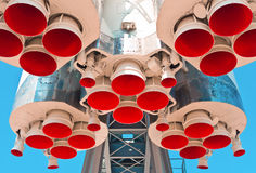 太空火箭引擎 库存照片