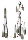 太空火箭infographics 免版税库存图片