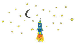太空船动画片 免版税图库摄影