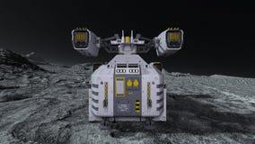 太空船3D CG翻译  库存例证