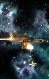 太空飞船争斗武装直升机 图库摄影