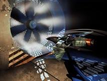 太空飞船到风洞里 免版税库存照片