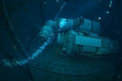 太空飞船潜水 库存照片