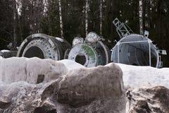 太空飞船零件 免版税库存图片
