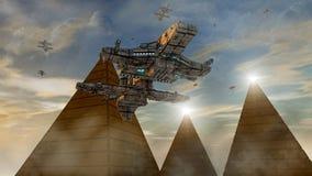 太空飞船飞碟 库存图片