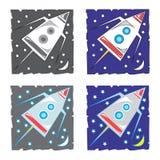 太空飞船,传染媒介例证 免版税库存照片