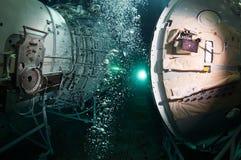 太空飞船水下的俄罗斯 库存图片