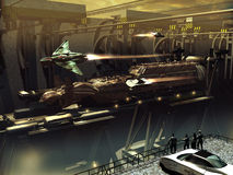太空飞船建筑 库存图片