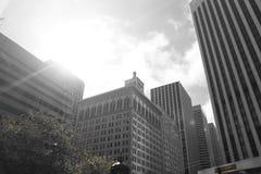 太阳上升在市旧金山 图库摄影