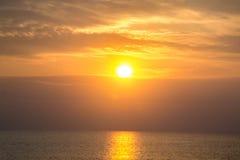 太阳上升早晨 免版税库存照片