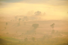 太阳上升自然场面  库存照片