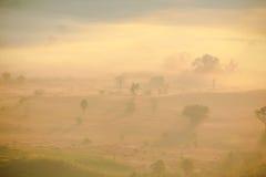 太阳上升自然场面  图库摄影