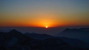 太阳上升 图库摄影