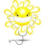 太阳与医生的绷带和与听诊器 免版税库存图片