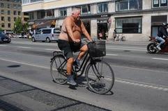太阳亮光温暖的天气在丹麦 库存图片