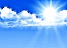 太阳亮光背景 免版税库存图片