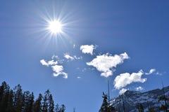 太阳亮光 库存照片
