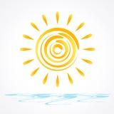 太阳传染媒介 免版税图库摄影
