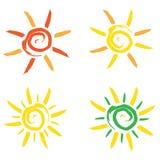 太阳传染媒介 库存图片