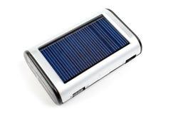 太阳充电器的电话 库存图片