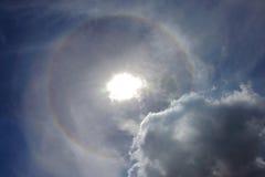 太阳光晕圈子 库存图片