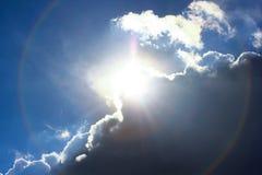 太阳光晕 免版税图库摄影
