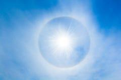 太阳光晕 免版税库存图片