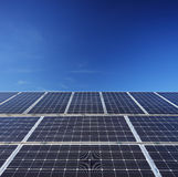 太阳光电池盘区的看法 免版税图库摄影