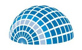 太阳光芒圆顶商标元素例证 向量例证
