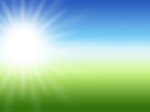 太阳光芒夏天背景 免版税库存图片