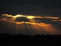 太阳光芒 库存照片